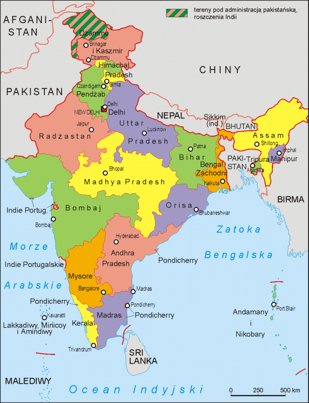 police states and territories of india